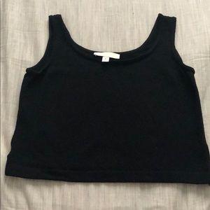 St. John basic knit tank, petite black